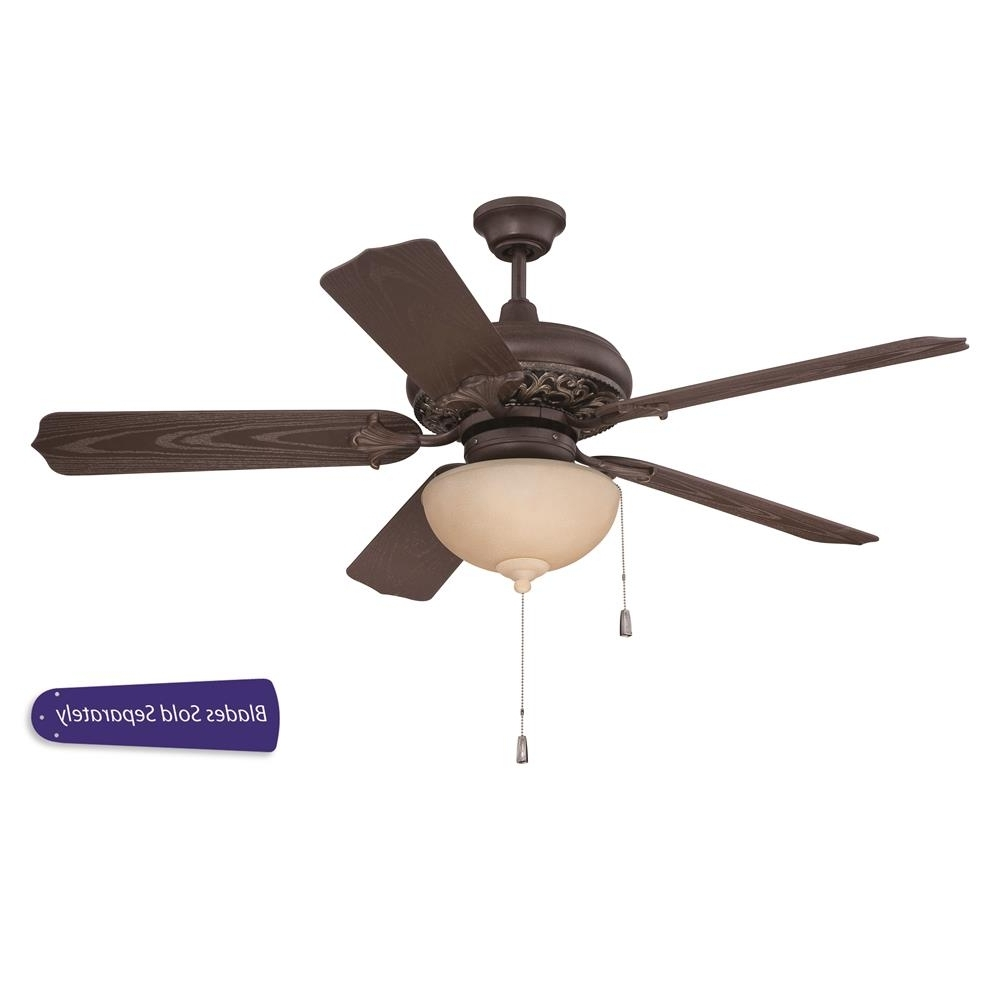 "Outdoor Ceiling Fans Under $75 With Newest Omi52Agvm – Craftmade Omi52Agvm Outdoor Mia 52"" Ceiling Fan W/light (View 16 of 20)"