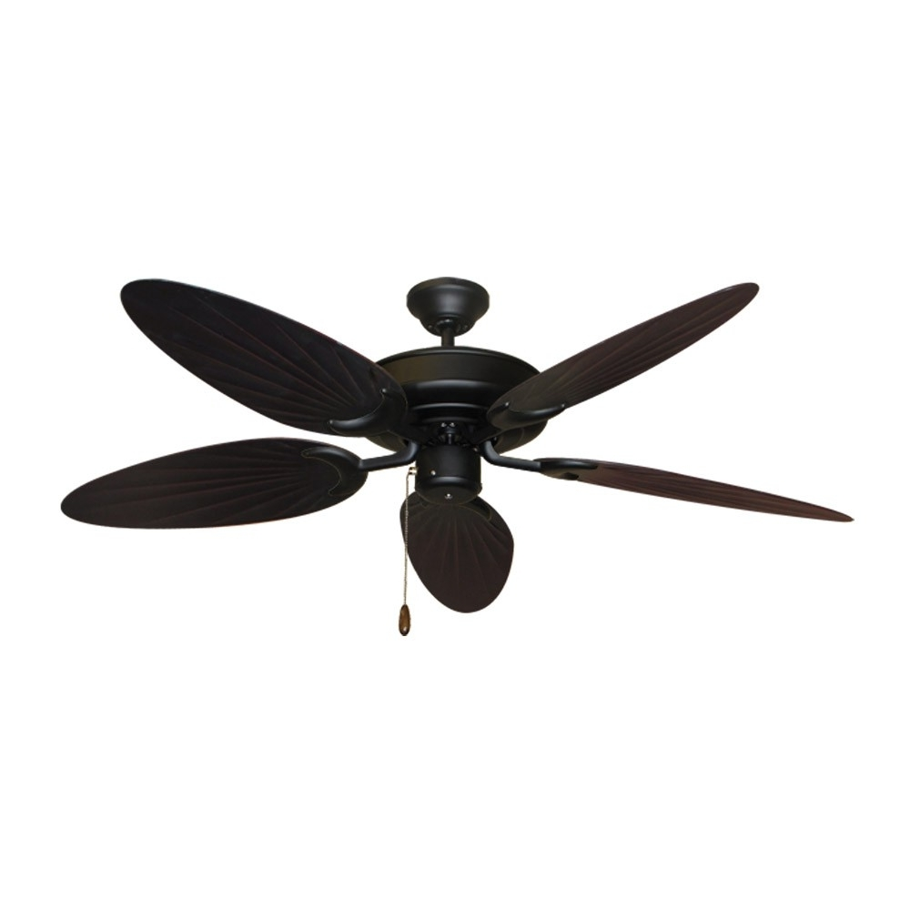 Outdoor Ceiling Fans With Bamboo Blades Intended For Well Known Bamboo Ceiling Fan – Raindance Matte Black – Customize With 12 Blade (View 12 of 20)