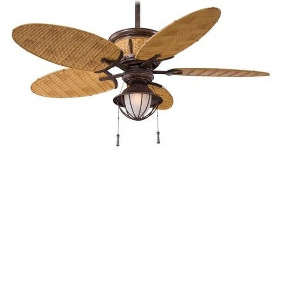Outdoor Ceiling Fans With Bamboo Blades Pertaining To Popular Minka Aire F580 Vr/bb Shangri La 1 Light 52 Inch Outdoor Ceiling Fan (View 14 of 20)