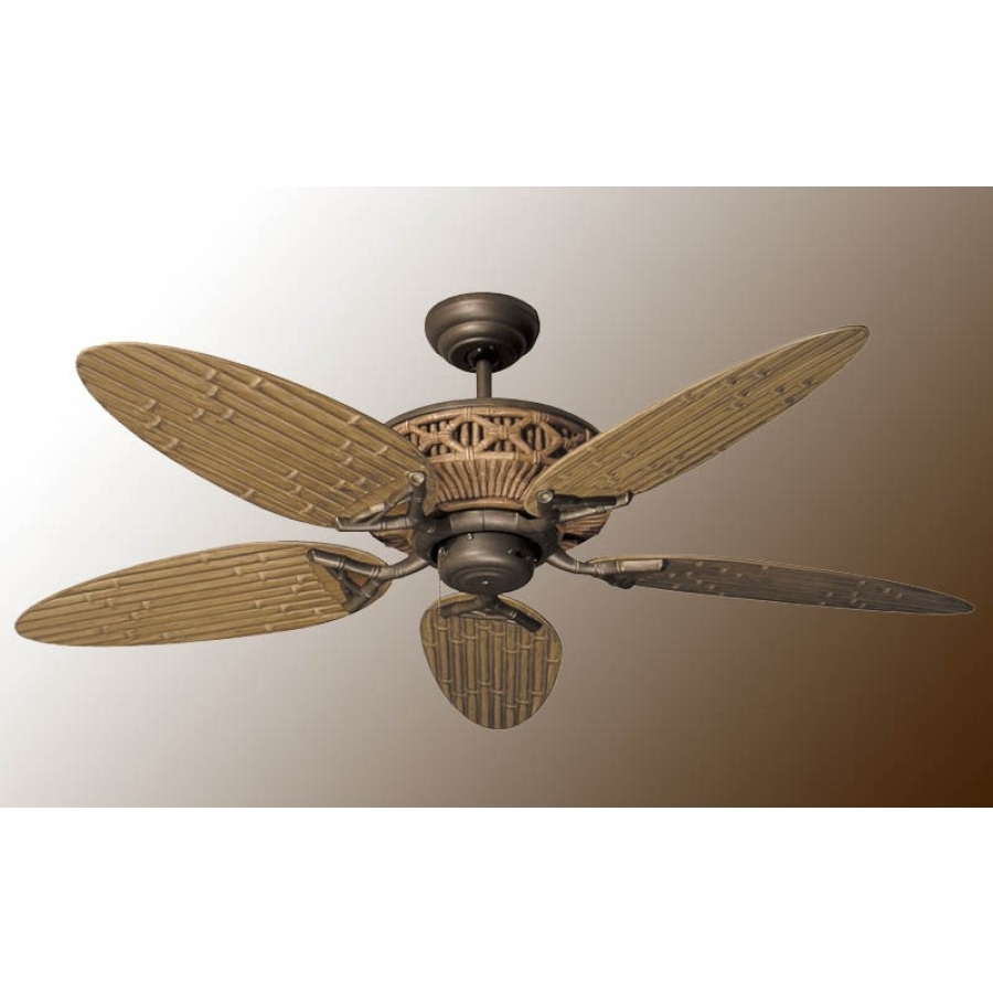 Outdoor Ceiling Fans With Bamboo Blades Throughout Fashionable Tiki Ceiling Fan, Outdoor Fan (View 15 of 20)