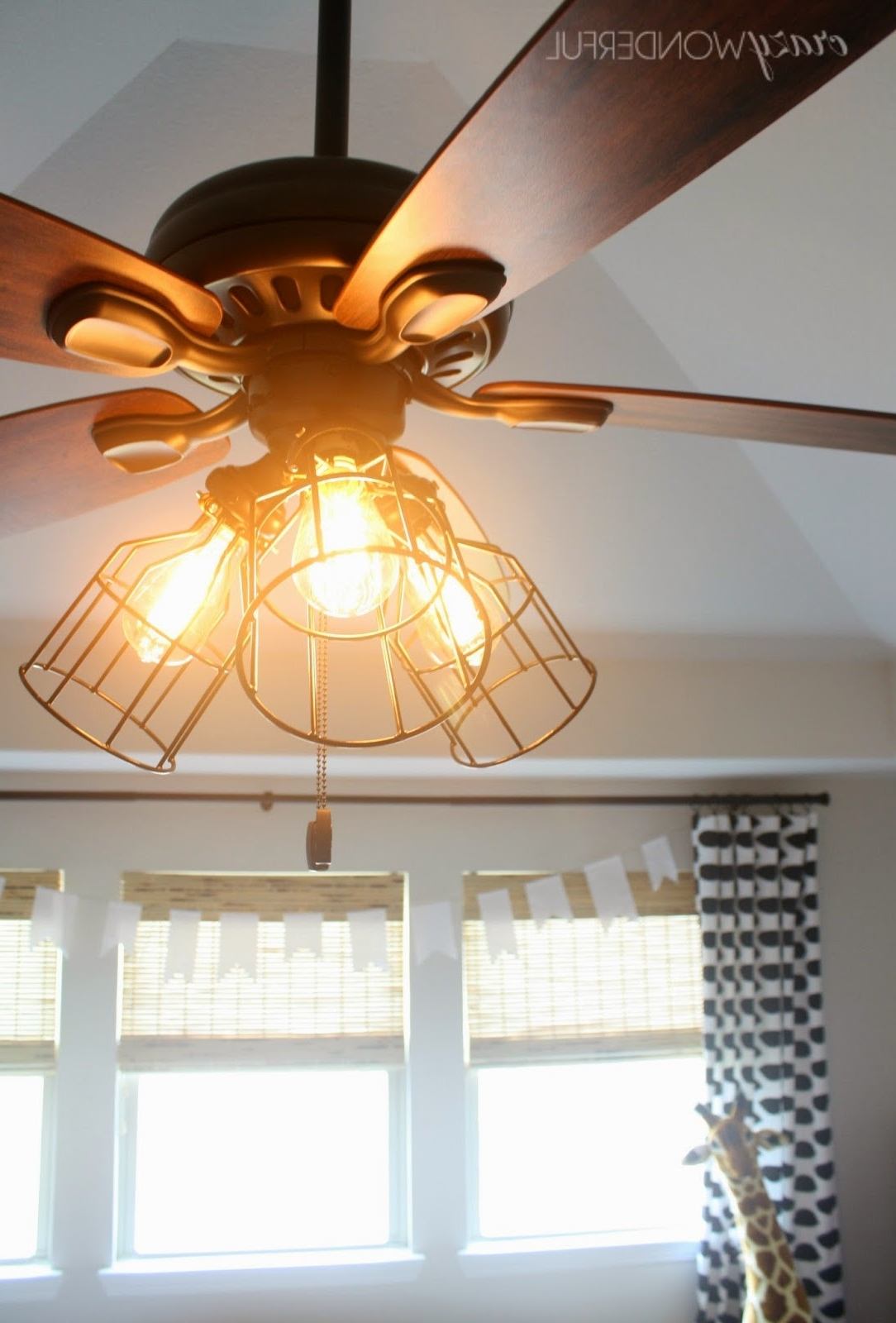 Outdoor Ceiling Fans With Cage Pertaining To Favorite Black Outdoor Lights Wall New Crazy Wonderful Diy Cage Light Ceiling (View 17 of 20)