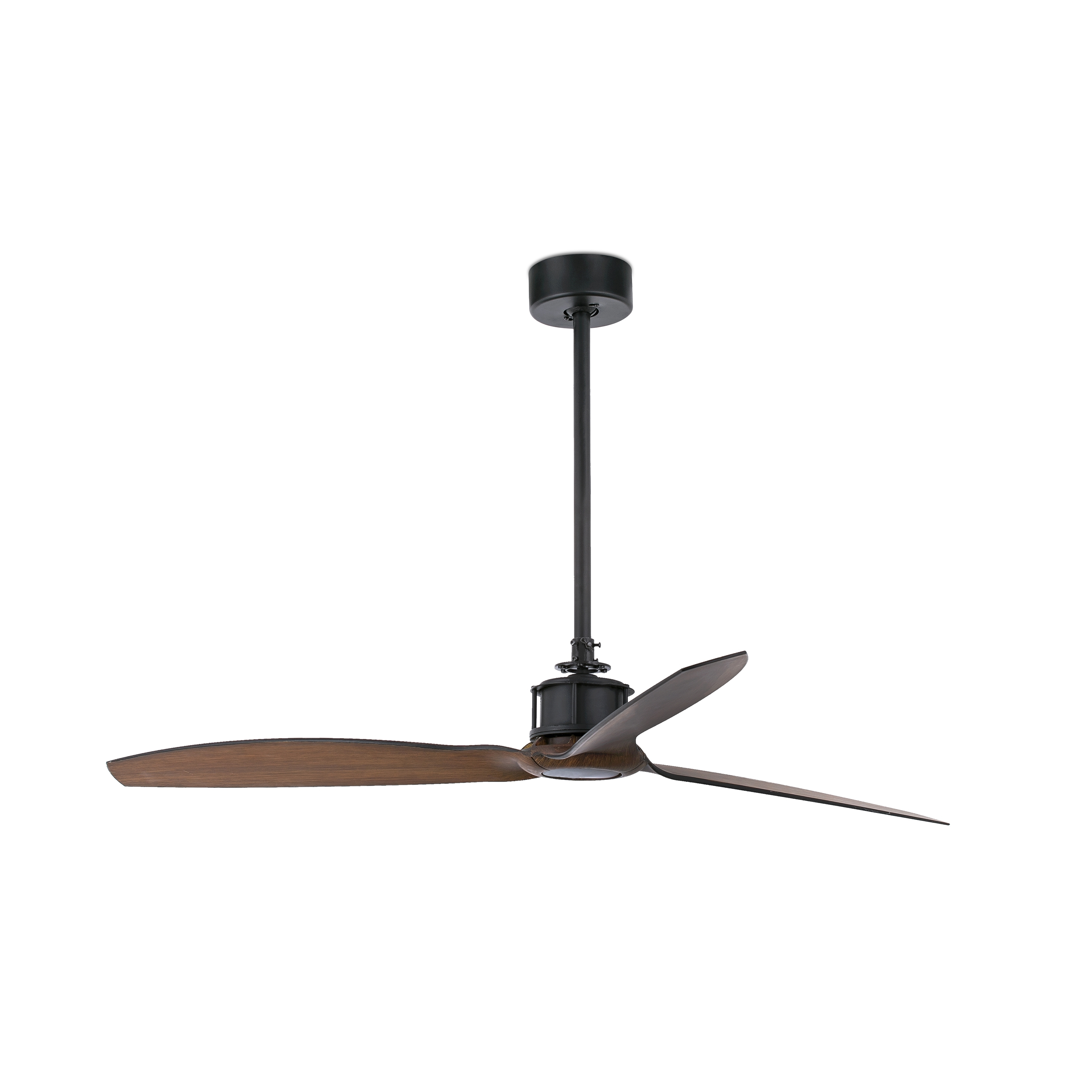 Outdoor Ceiling Fans With Dc Motors For Widely Used Just Fan Black/wood Ceiling Fan With Dc Motor – Faro (View 11 of 20)