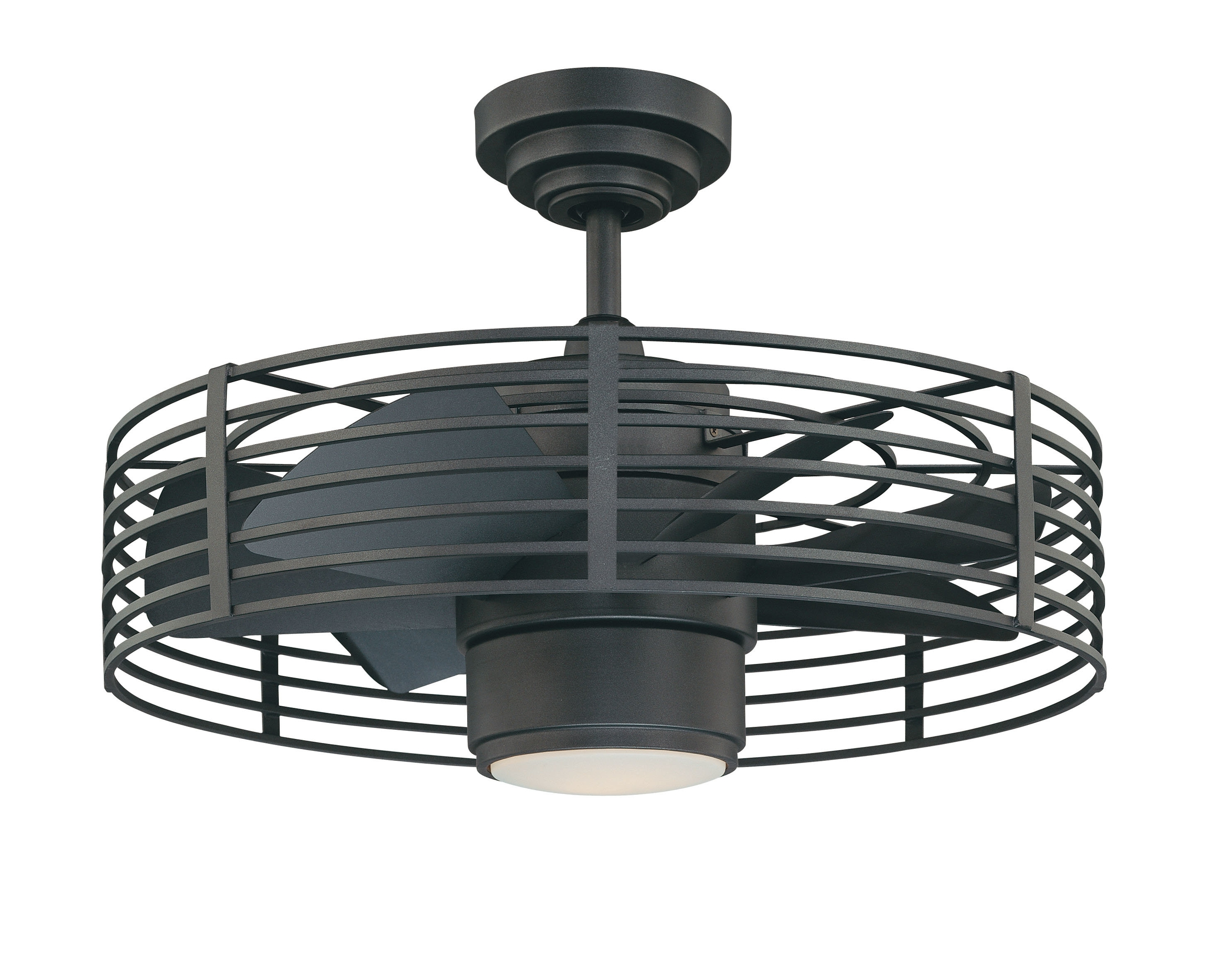 "Outdoor Ceiling Fans With Guard With Regard To Widely Used Trent Austin Design 23"" Glasgow 7 Blade Ceiling Fan With Wall Remote (View 18 of 20)"
