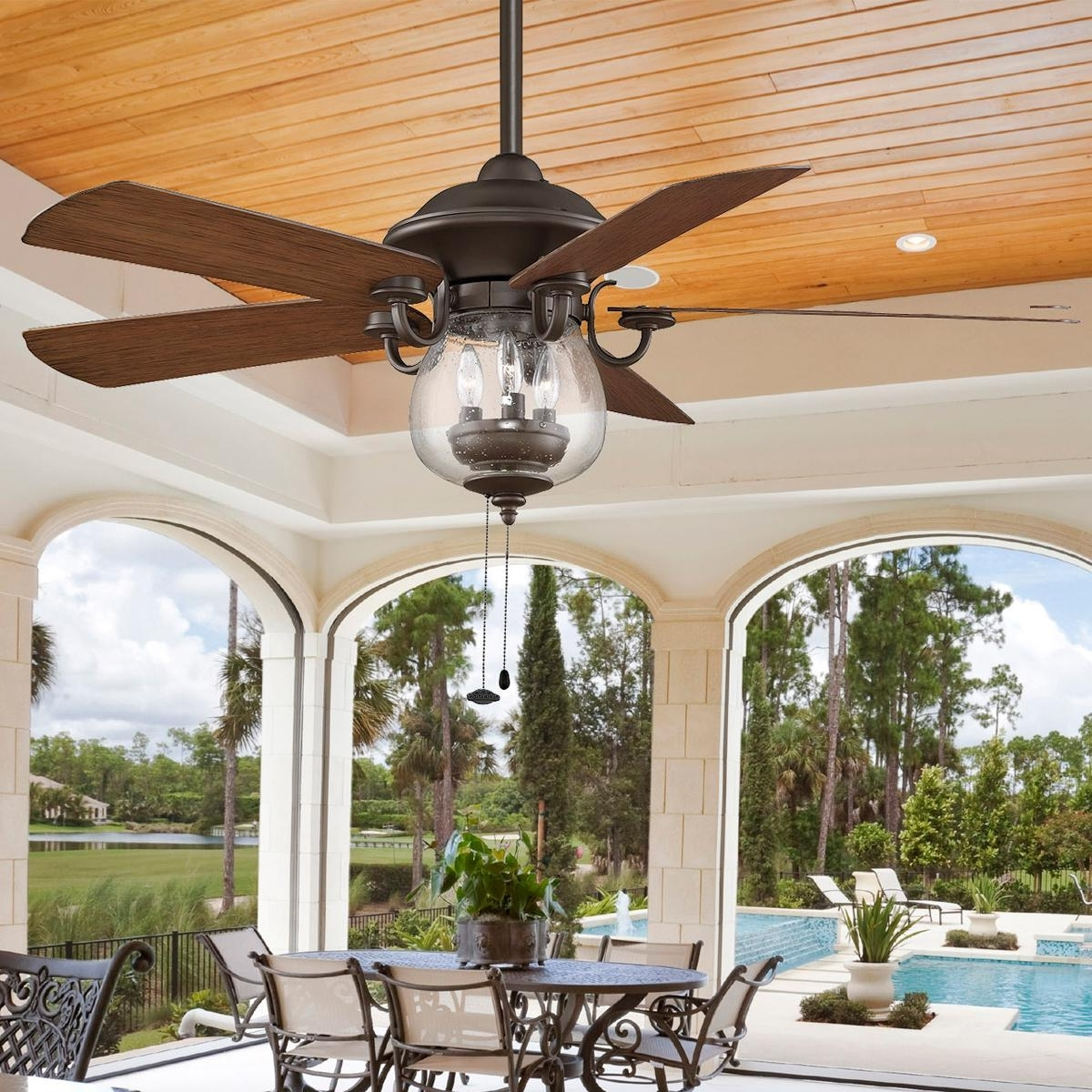 Outdoor Ceiling Fans With Lantern Light For Most Recently Released Ceiling Fan: Recomended Exterior Ceiling Fans Ideas Outdoor Fans (View 13 of 20)