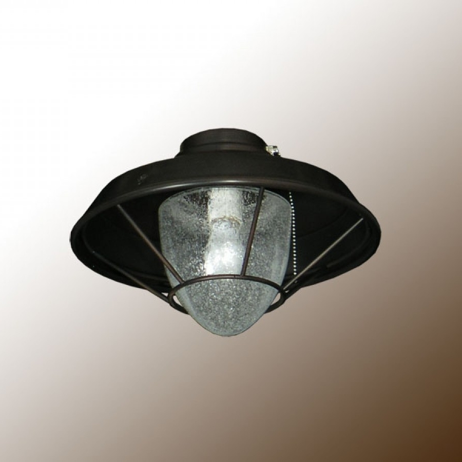 Outdoor Ceiling Fans With Lantern With Regard To Most Current Outdoor Lantern Fan Light With Clear Seeded Glass (View 18 of 20)