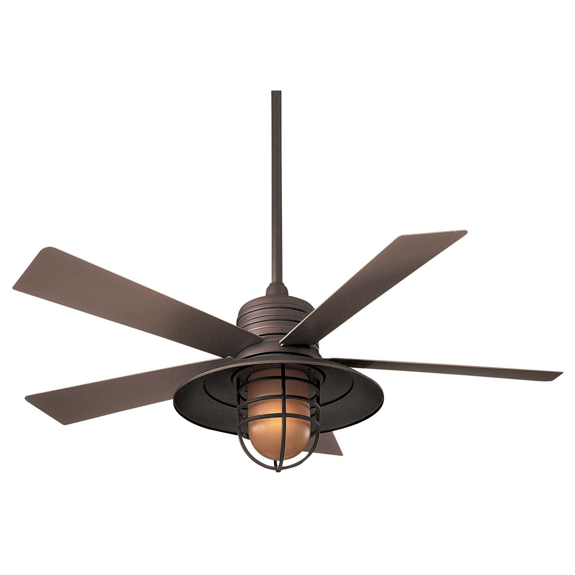 """Outdoor Ceiling Fans With Led Globe Intended For Well Liked Minka Aire 54"""" Rainman 5 Blade Outdoor Led Ceiling Fan & Reviews (View 14 of 20)"""