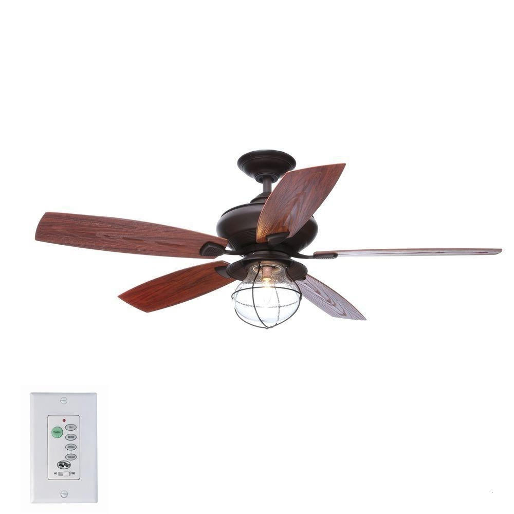 Outdoor Ceiling Fans With Light And Remote Attractive Hampton Bay For Recent Indoor Outdoor Ceiling Fans With Lights And Remote (View 9 of 20)