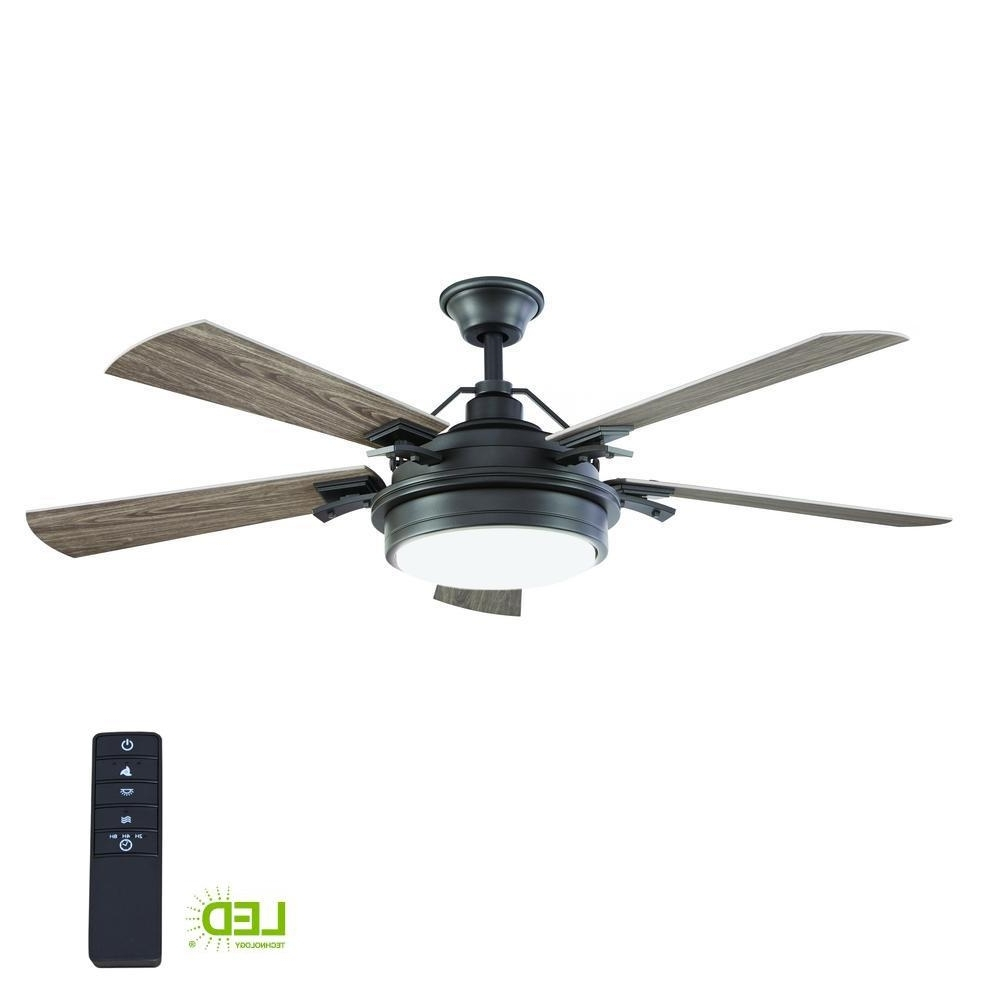 Outdoor Ceiling Fans With Lights And Remote Control Throughout Preferred Home Decorators Collection Westerleigh 54 In (View 12 of 20)