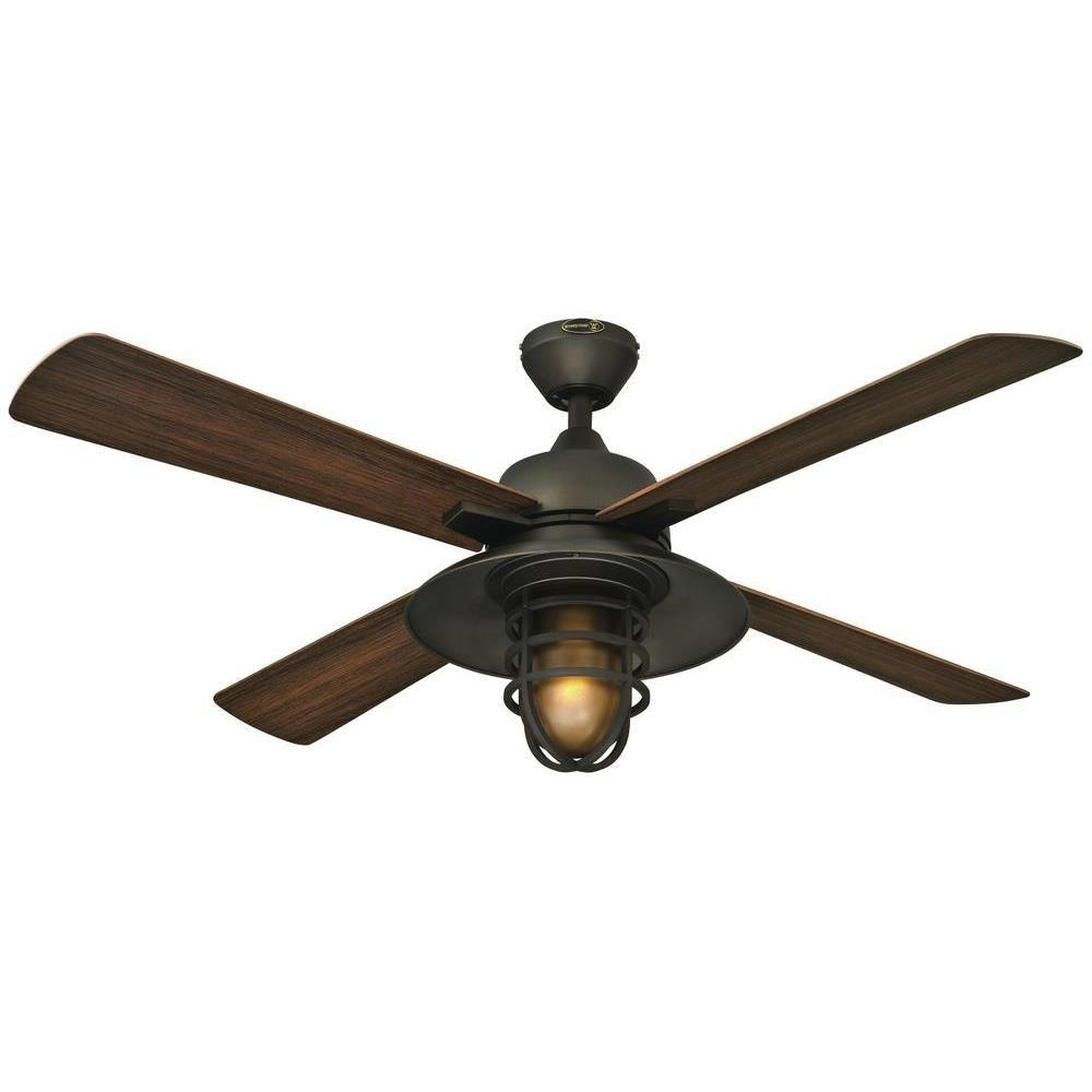 Outdoor Ceiling Fans With Lights Damp Rated With Best And Newest Westinghouse Great Falls 52 In (View 11 of 20)