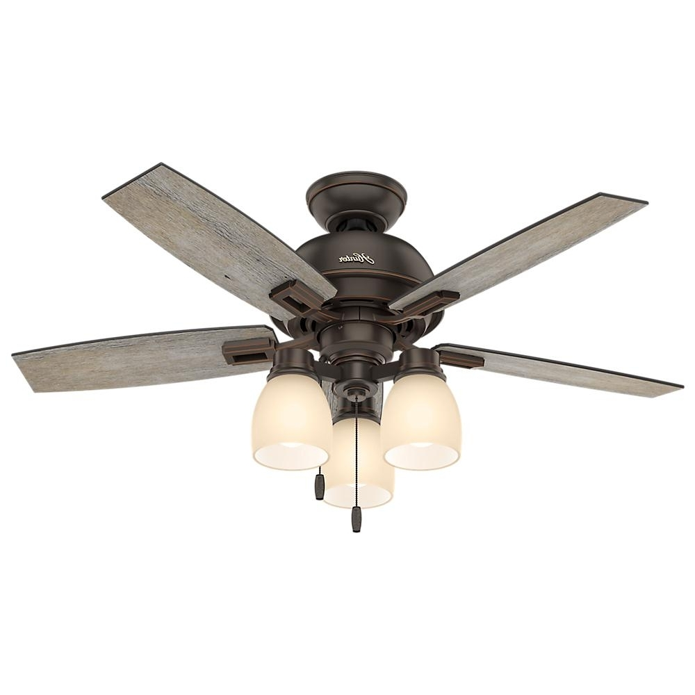 Outdoor Ceiling Fans With Mason Jar Lights With Regard To Most Up To Date Hunter Donegan 44 In (View 16 of 20)
