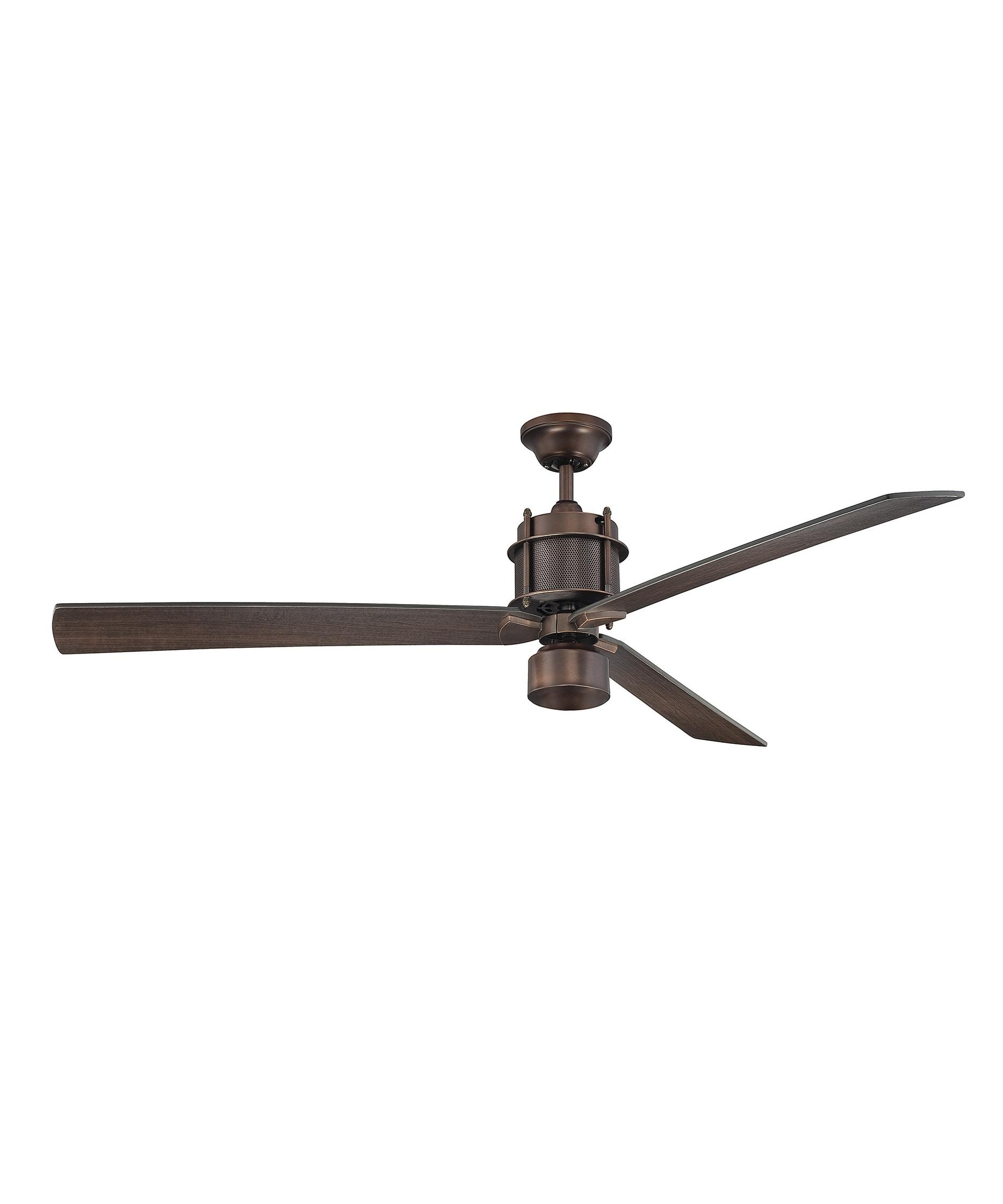 Outdoor Ceiling Fans With Metal Blades Regarding Most Current Savoy House 56 870 3 Muir 56 Inch 3 Blade Ceiling Fan (View 12 of 20)