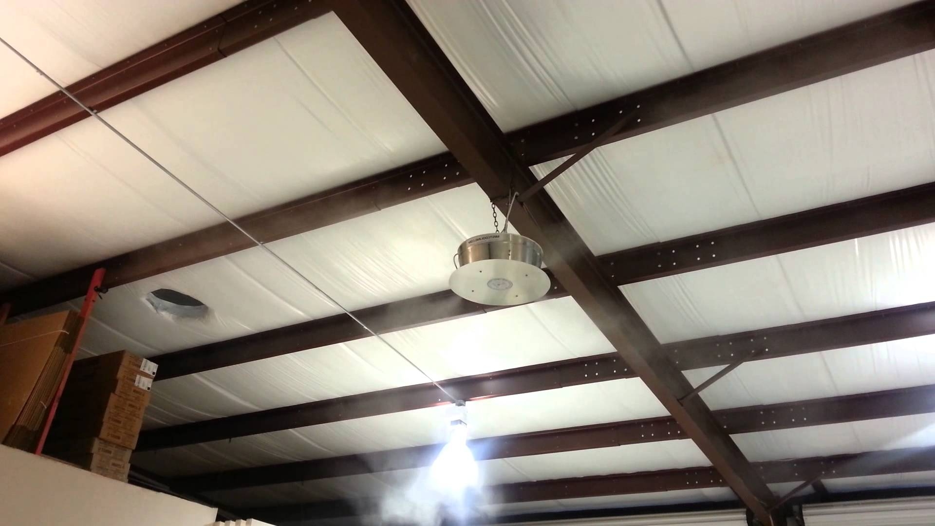 Outdoor Ceiling Fans With Misters For Most Recently Released How To Cool Warehouse With 360 Misting Fan – Youtube (View 12 of 20)