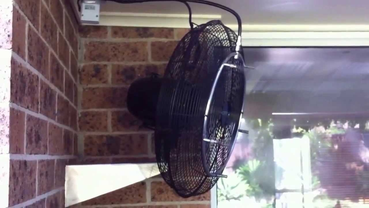 Outdoor Ceiling Fans With Misters Regarding Most Recently Released Misting Fan Cooling Patio Mistech High Pressure Misting System – Youtube (View 8 of 20)