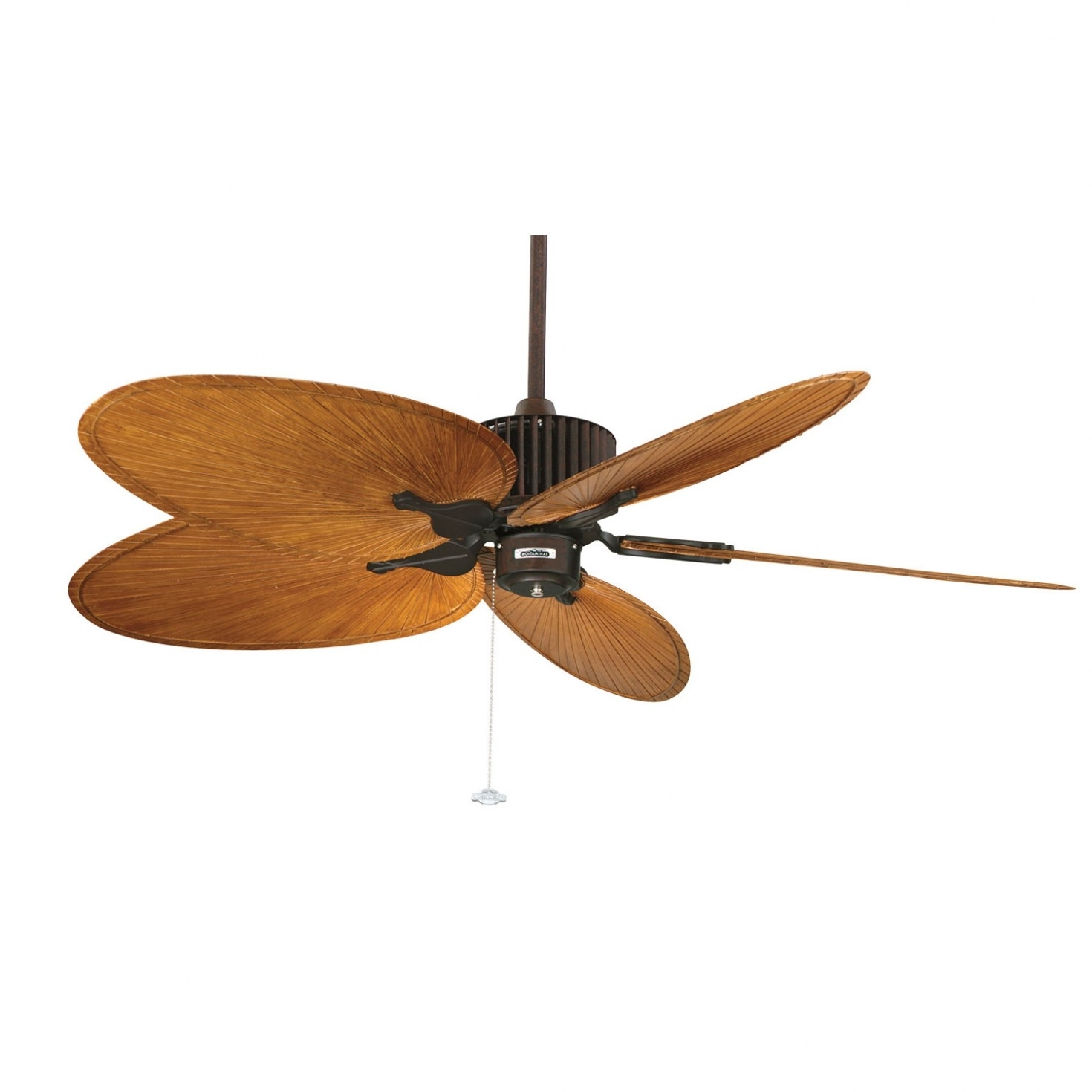 Outdoor Ceiling Fans With Palm Blades Regarding Trendy Palm Leaf Ceiling Fan — Foothillfolk Designs (View 16 of 20)