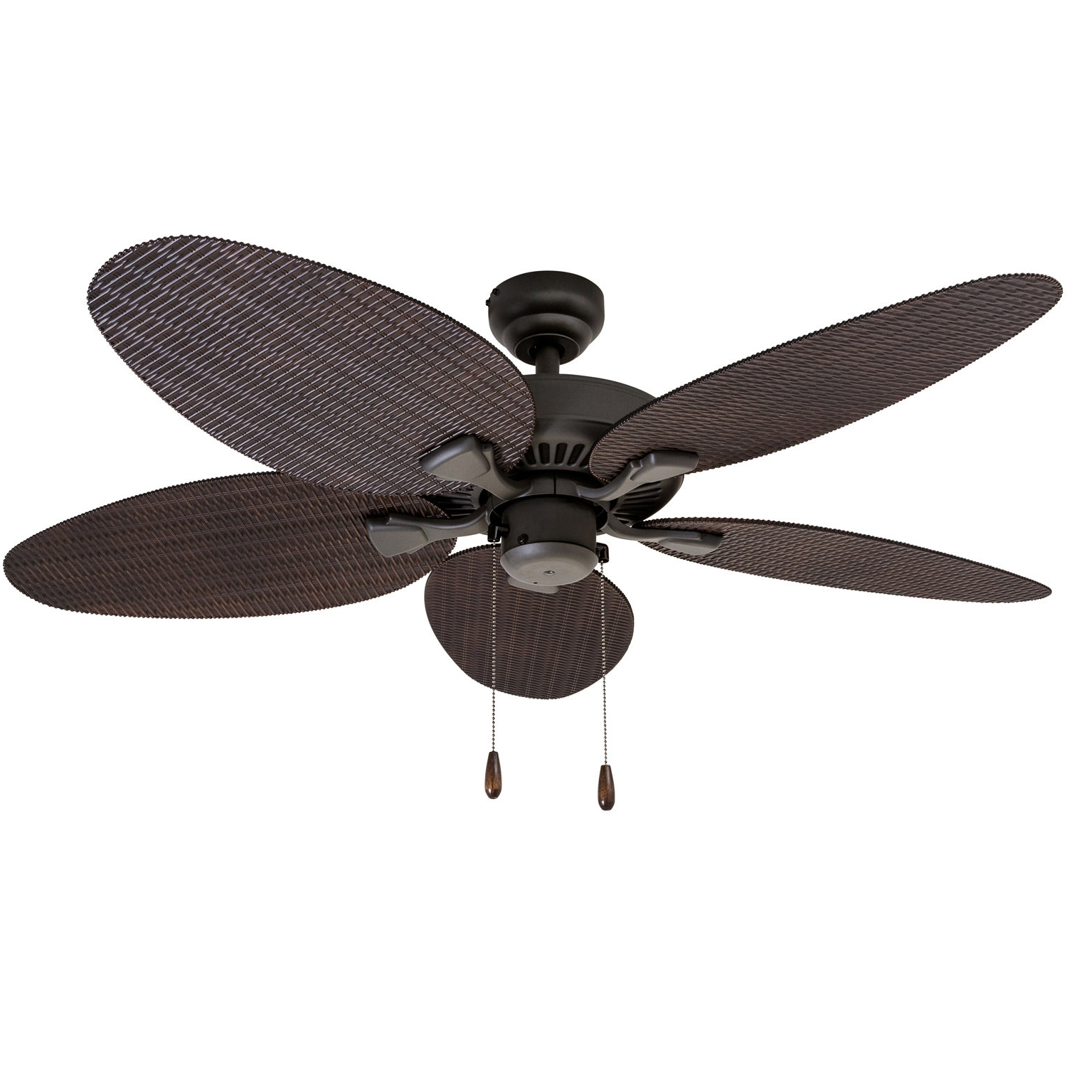 "Outdoor Ceiling Fans With Plastic Blades Pertaining To 2018 Bayou Breeze 48"" Kalea 5 Blade Outdoor Ceiling Fan & Reviews (View 6 of 20)"