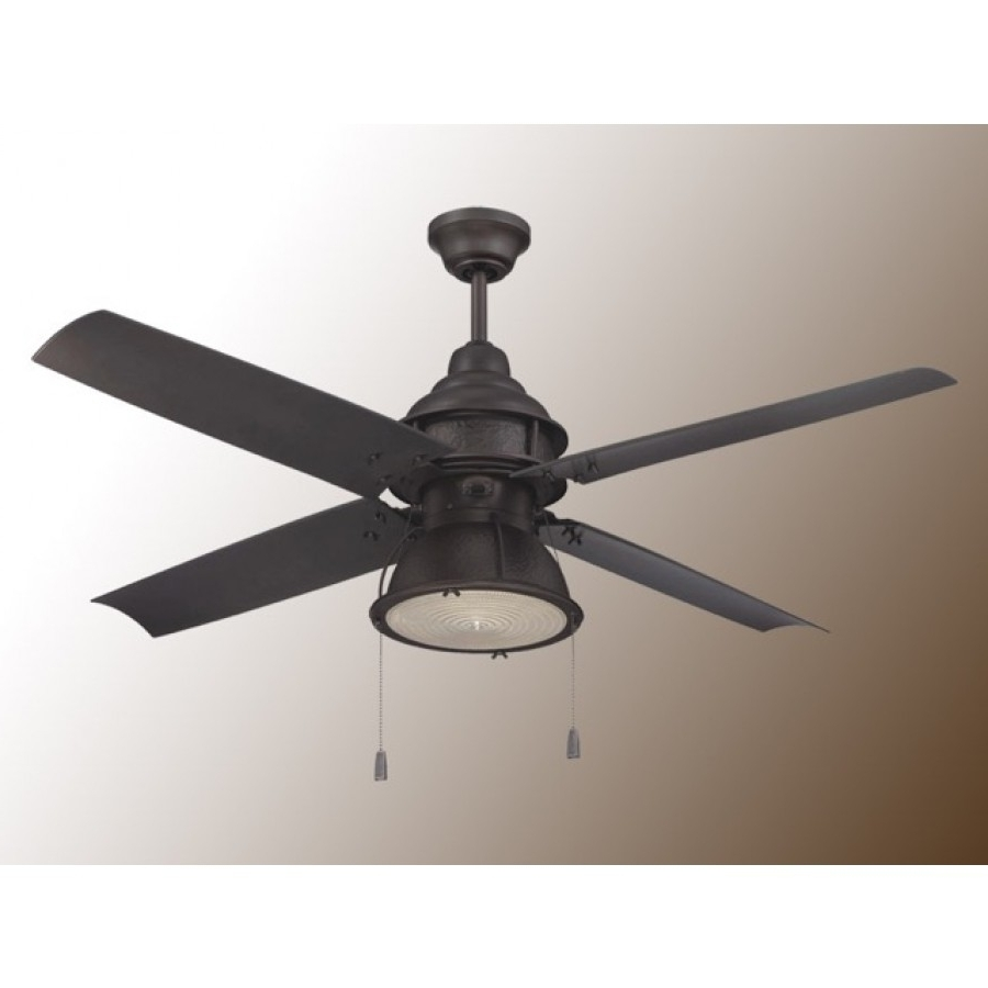 Outdoor Ceiling Fans With Pull Chains With Regard To Famous Craftmade Port Arbor Ceiling Fan – 3 Finish Choices – Par52Ri (View 14 of 20)