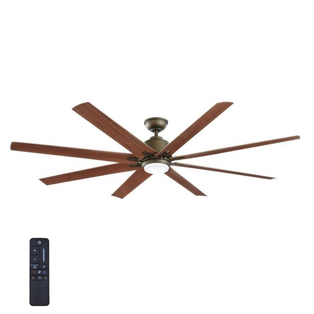 Outdoor Ceiling Fans With Remote And Light Regarding 2018 Home Decorators Collection Kensgrove 72 In (View 3 of 20)