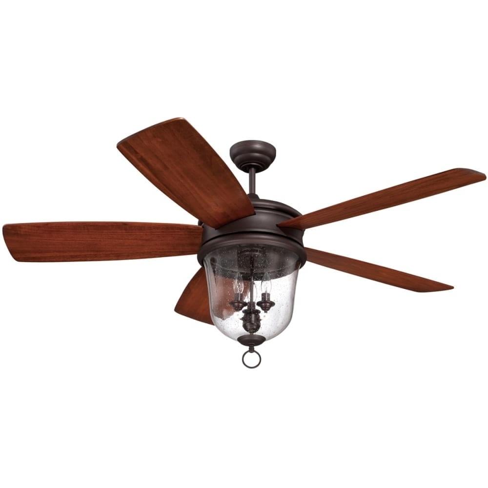 "Outdoor Ceiling Fans With Remote Inside Recent Shop Craftmade Fredericksburg Fredericksburg 60"" 5 Blade Indoor (View 12 of 20)"