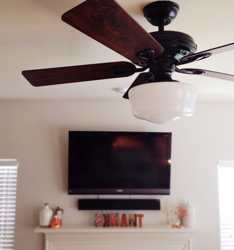 Outdoor Ceiling Fans With Schoolhouse Light Regarding Best And Newest Love Hate Relationship A Ceiling Fan With Schoolhouse Light Simple (View 14 of 20)