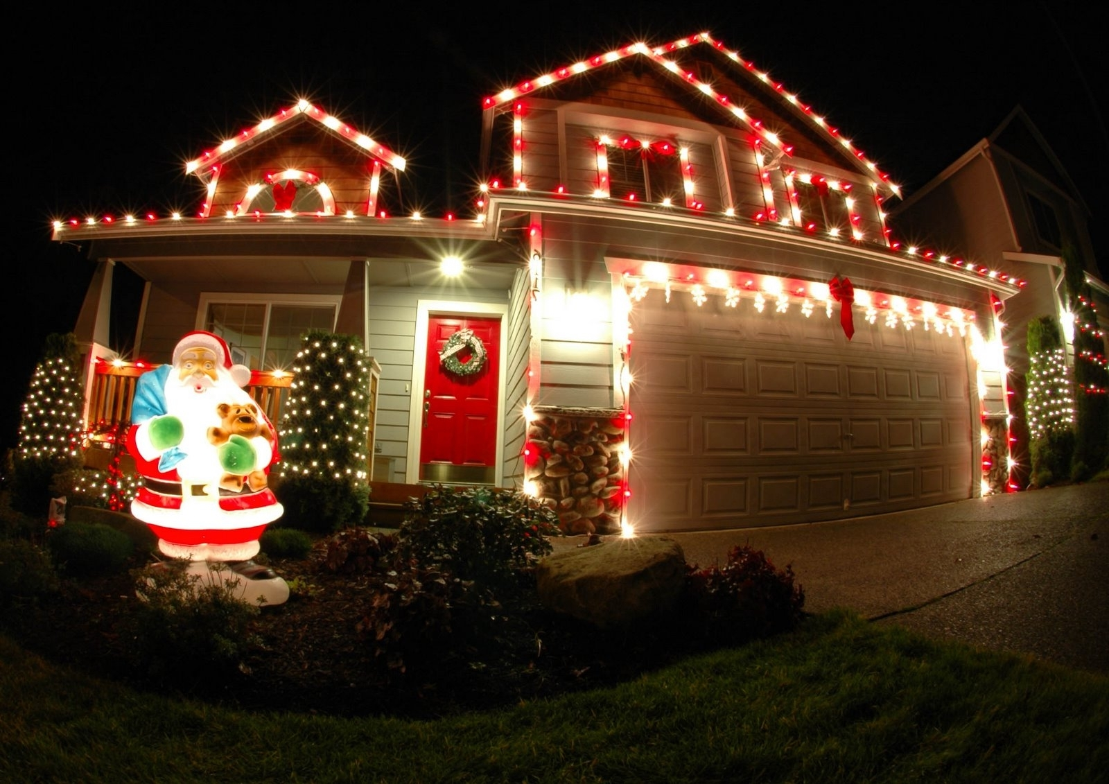 Outdoor Christmas Lights Red — Indoor Outdoor Ideas : Outdoor With Regard To Famous Outdoor Christmas Rope Lanterns (View 3 of 20)