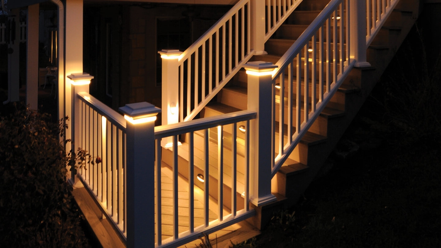 Outdoor Deck Lanterns Regarding Recent Deck & Rail Lighting (Gallery 17 of 20)