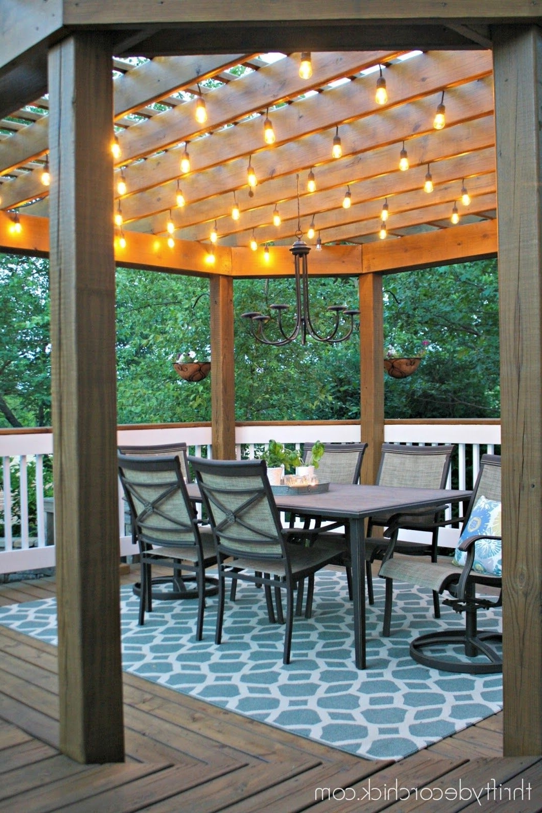Outdoor Dining Lanterns With Regard To Newest Our Beautiful Outdoor Dining Room (Gallery 13 of 20)