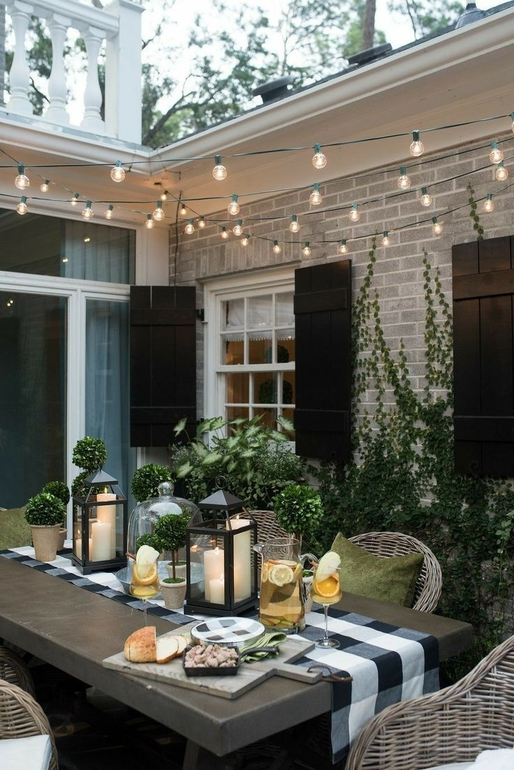 Outdoor Dining Lanterns Within Fashionable Outdoor Fire Pit, Outdoor Table, Outdoor Dining, Outdoor (View 4 of 20)