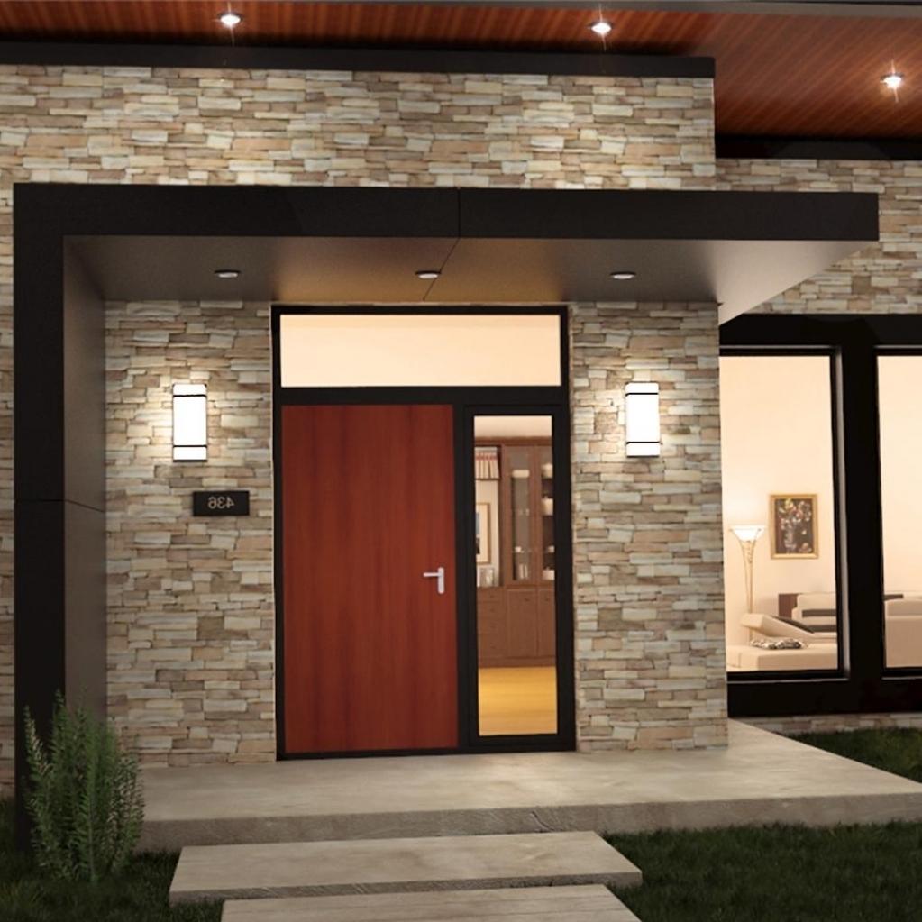 Outdoor Door Lanterns Pertaining To Most Popular Light Fixture Landscape Lighting Ideas Modern Front Porch Light (View 9 of 20)
