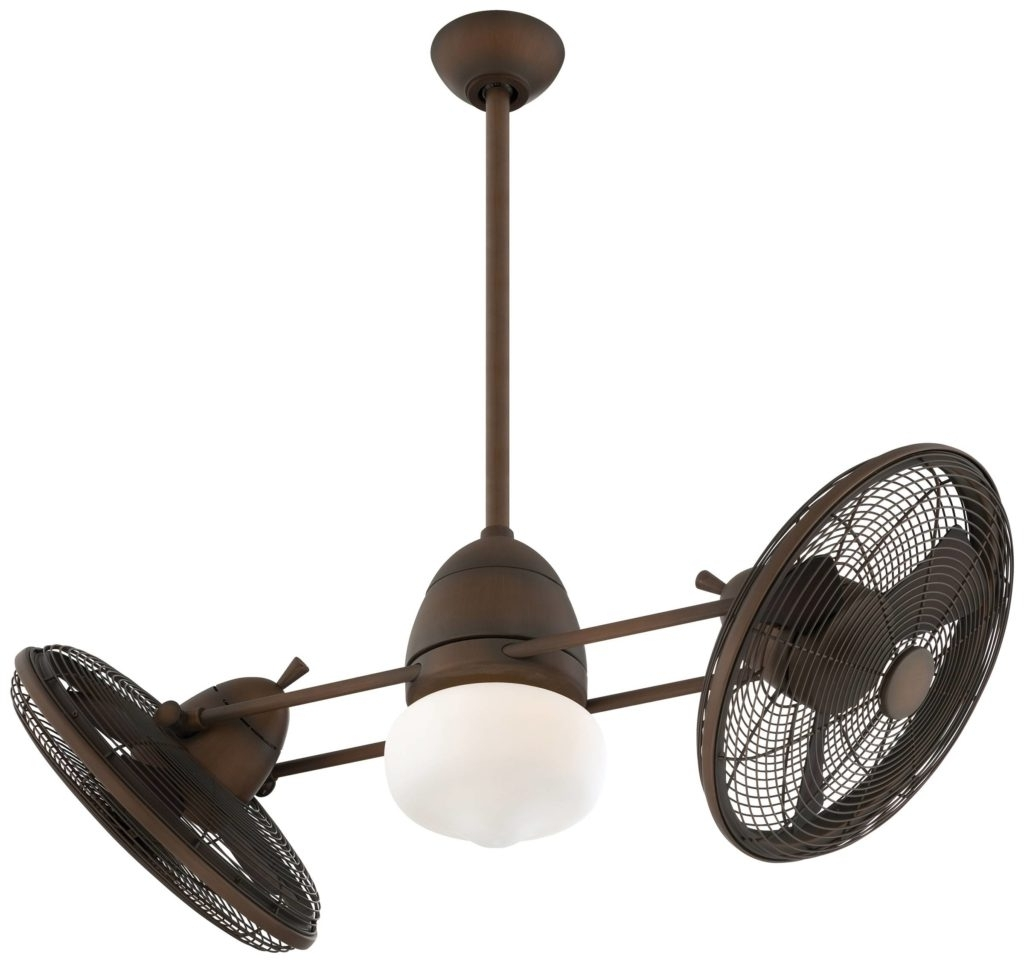 Outdoor Double Oscillating Ceiling Fans Within Current 41 Double Ceiling Fan, Gale Series 14 In Polished Chrome Indoor (View 15 of 20)