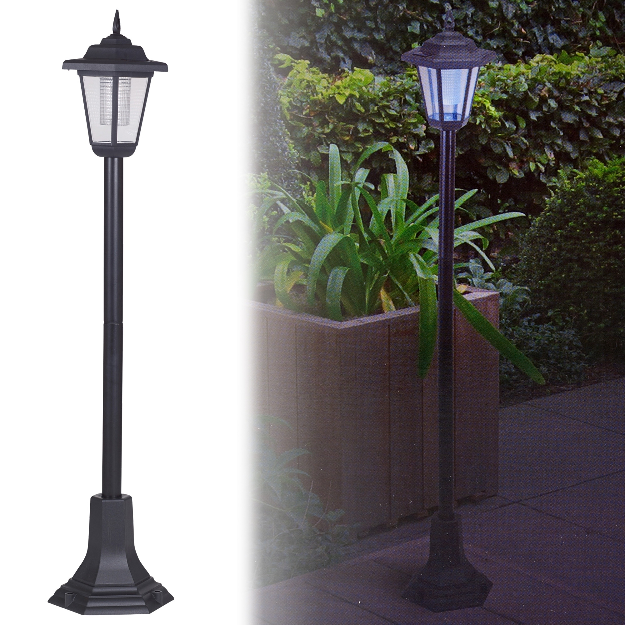 Outdoor Driveway Lanterns With Most Recent Solar Powered Garden Lights Lantern Lamp Black Led Pathway Driveway (View 12 of 20)