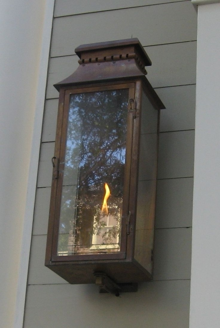 Outdoor Gas Lanterns For Most Popular Best Lighting Exterior Outdoor Lantern Antique Gas Wall Sconces The (View 10 of 20)
