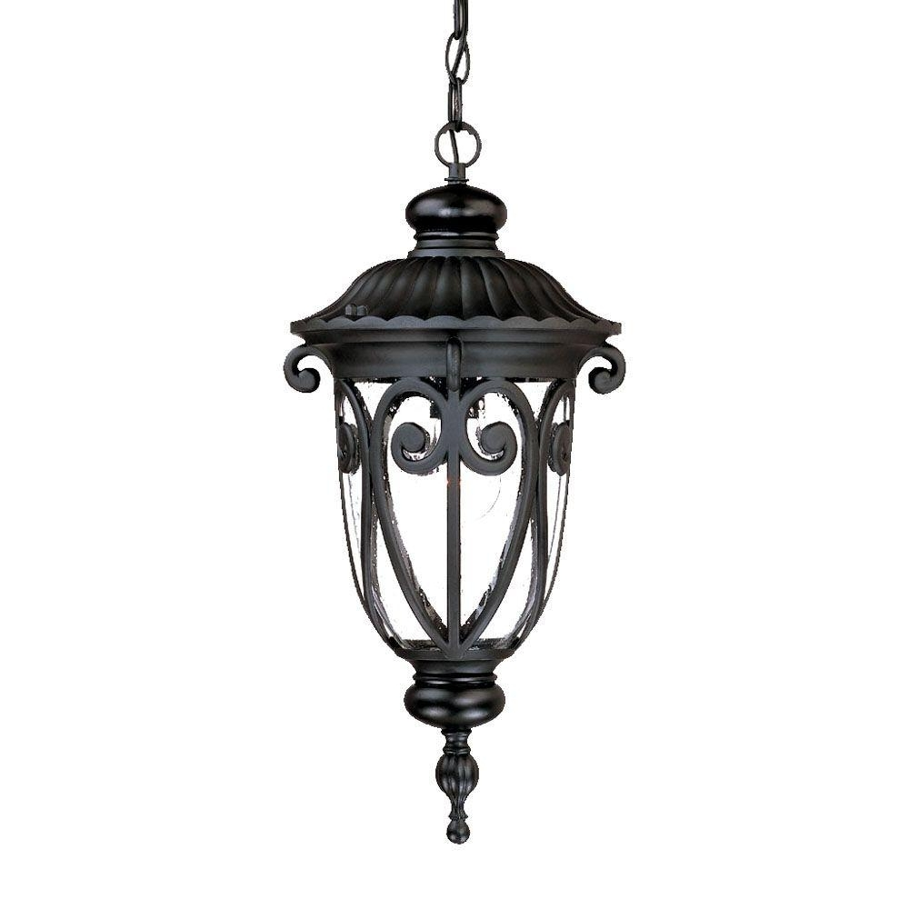 Outdoor Gel Lanterns Within Widely Used Acclaim Lighting Naples Collection 1 Light Matte Black Outdoor (View 20 of 20)