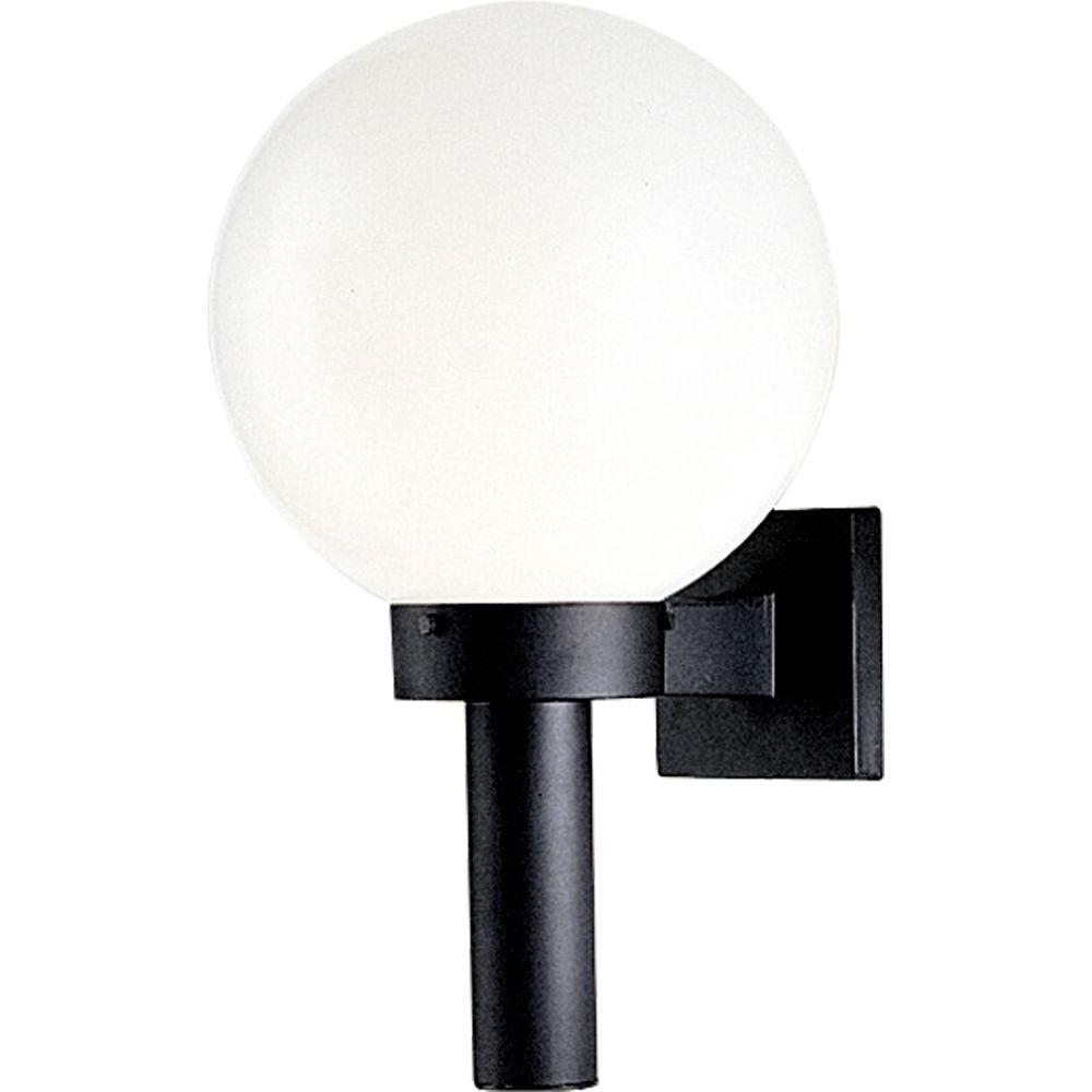 Outdoor Globe Lanterns Regarding Well Known Progress Lighting Globe Collection Black Outdoor Wall Lantern P (View 5 of 20)