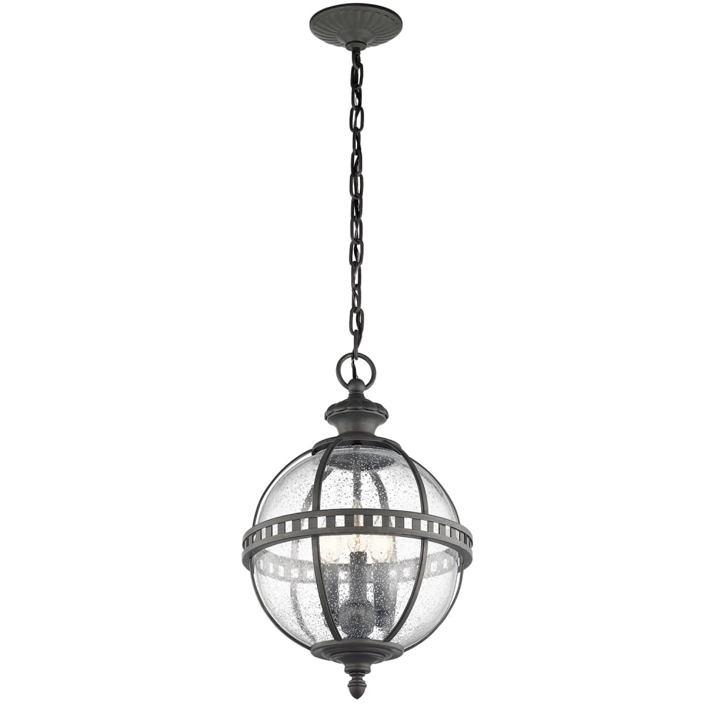Outdoor Globe Lanterns Throughout Most Popular Victorian Globe Style Exterior Hanging Lantern In Londonderry Finish (Gallery 7 of 20)