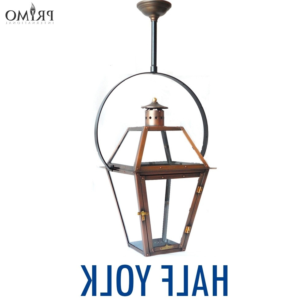Outdoor Hanging Electric Lanterns With Most Recently Released Royal Gas Or Electric Copper Lanternprimo – French Market Gas (View 19 of 20)