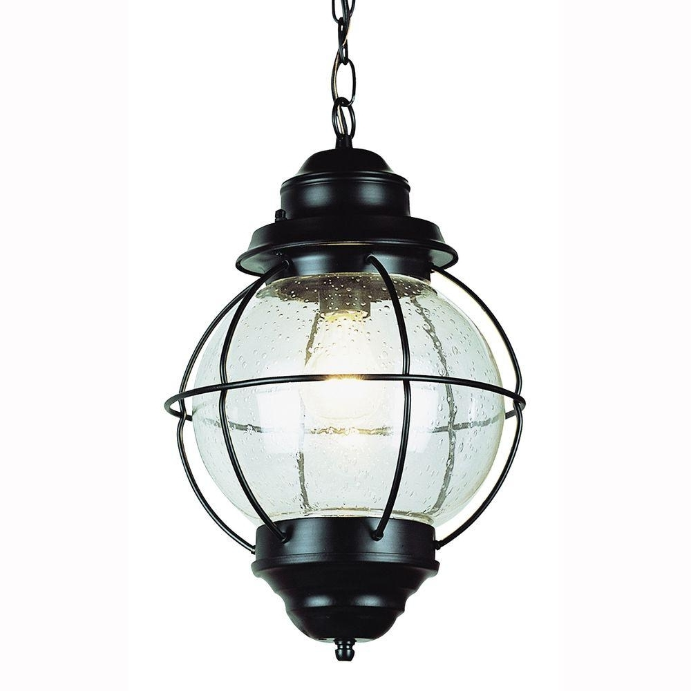 Outdoor Hanging Japanese Lanterns With Most Recent Bel Air Lighting Lighthouse 1 Light Outdoor Hanging Black Lantern (View 8 of 20)