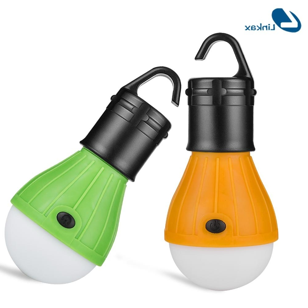 Outdoor Hanging Japanese Lanterns With Most Up To Date Portable Led Light Outdoor Hanging 3 Led Camping Lantern Soft Light (View 20 of 20)