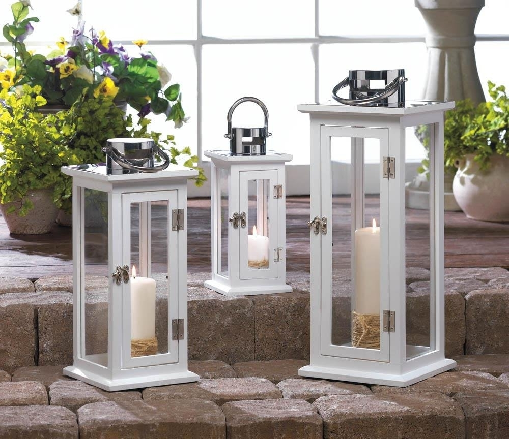 Outdoor Hanging Lanterns For Patio Intended For Famous Metal Lanterns, Highland Large Decorative Floor Patio Rustic Outdoor (Gallery 15 of 20)