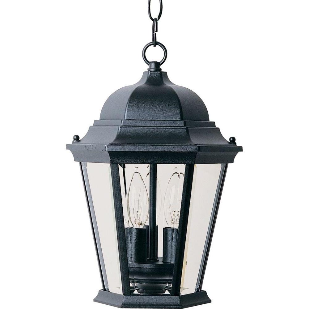 Outdoor Hanging Lanterns Regarding 2019 Maxim Lighting Westlake 3 Light Black Outdoor Hanging Lantern 1009Bk (View 11 of 20)