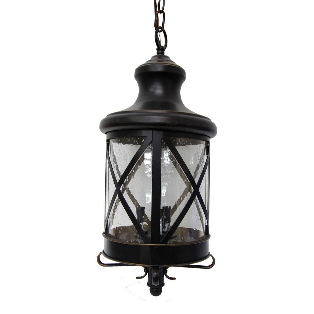 Outdoor Hanging Oil Lanterns Regarding Newest Y Decor Taysom 3 Light Oil Rubbed Bronze Outdoor Hanging Lantern (Gallery 20 of 20)