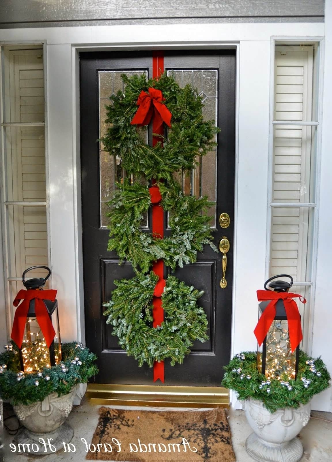 Outdoor Holiday Lanterns Throughout Current 35 Best Outdoor Holiday Planter Ideas And Designs For 2018 (Gallery 2 of 20)