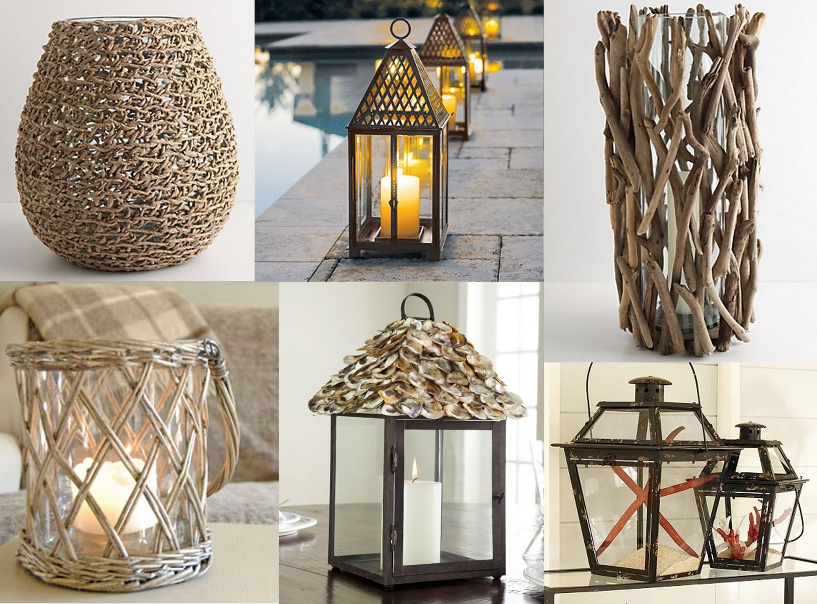Outdoor Hurricane Lanterns Pertaining To Fashionable Sugar + Oysters: Hurricane Lanterns (View 8 of 20)