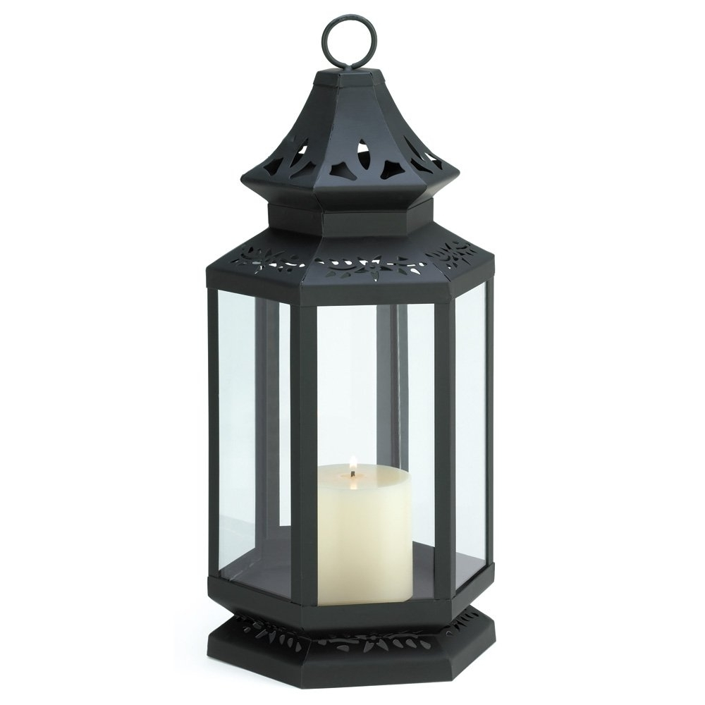 Outdoor Iron Lanterns With Recent Candle Lantern Decor, Large Black Outdoor Metal Candle Lanterns Iron (Gallery 11 of 20)