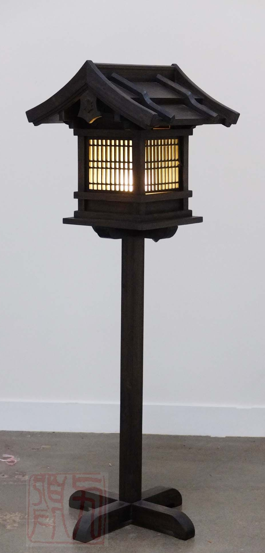 Outdoor Japanese Lanterns For Sale Pertaining To Well Liked Japanese Wooden Lantern, Outdoor (Wl2) (View 11 of 20)