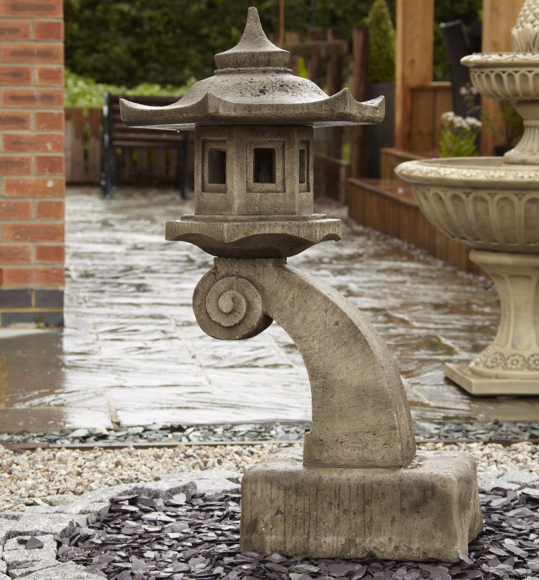 Outdoor Japanese Lanterns For Sale With Regard To Most Recently Released Large Curved Bali Oriental Garden Lantern – Gardensite.co.uk (Gallery 11 of 20)