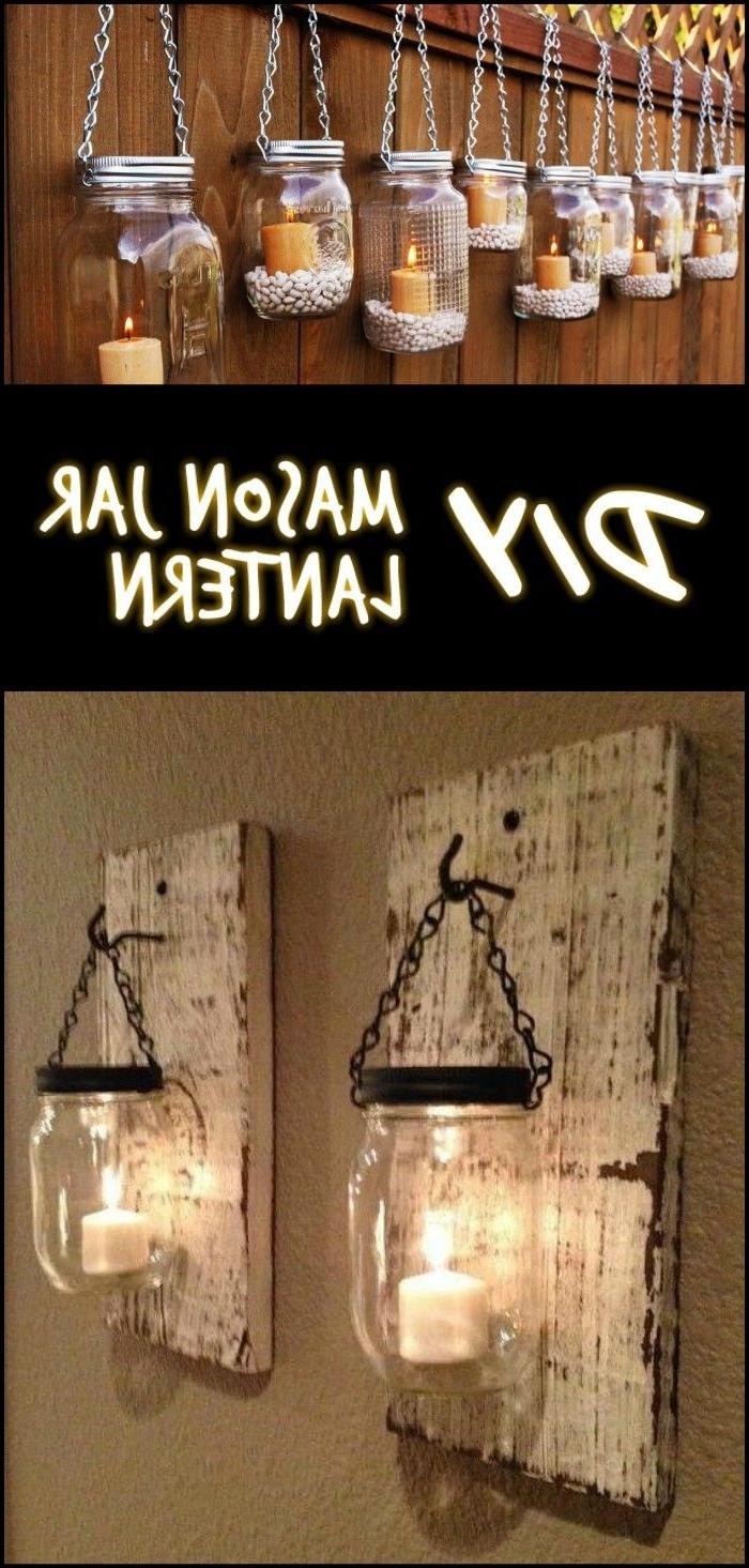 Outdoor Jar Lanterns Throughout Most Recently Released Diy Mason Jar Lantern (View 2 of 20)