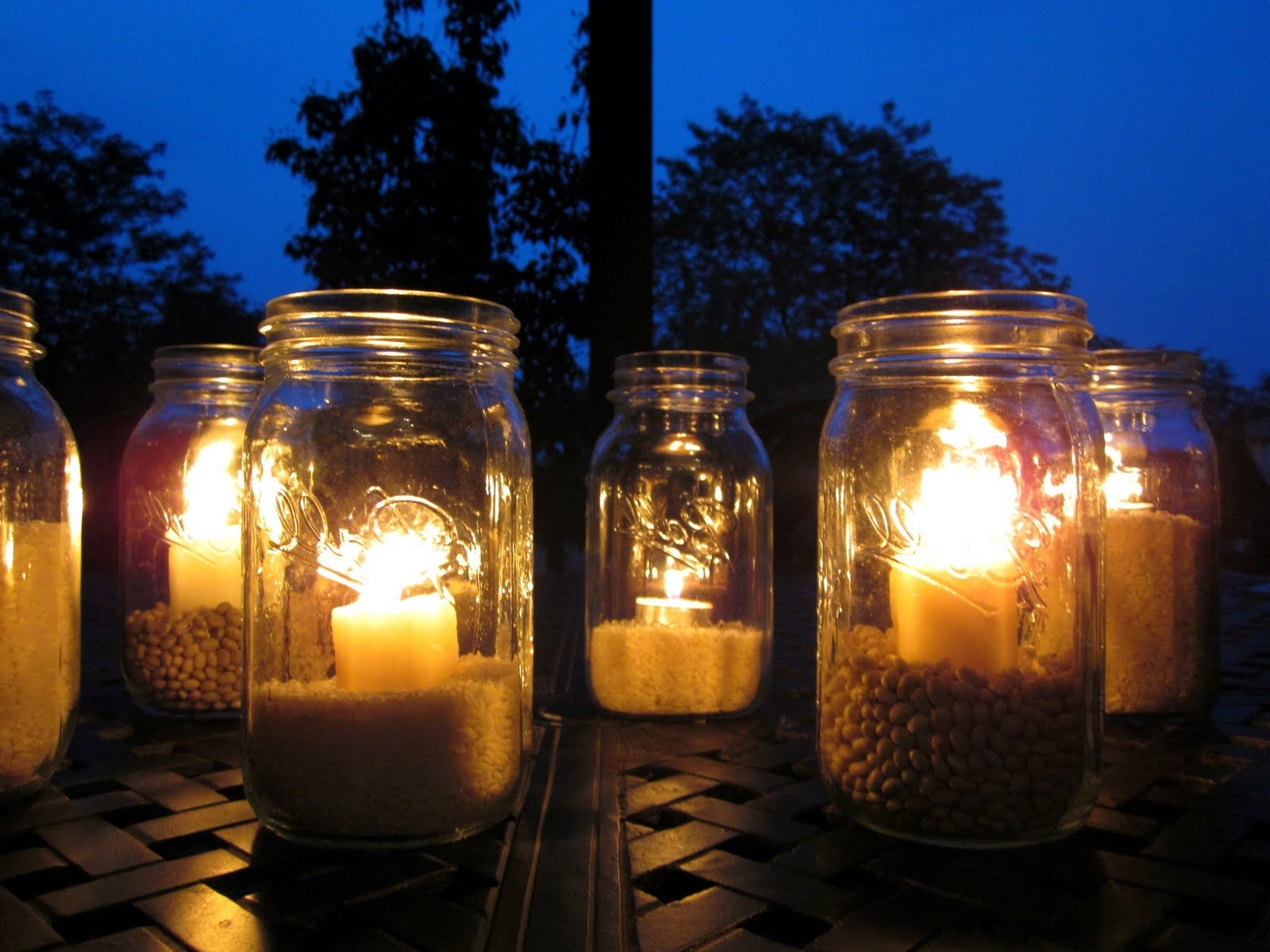 Outdoor Jar Lanterns Within Well Known Outdoor Mason Jar Lights (View 12 of 20)
