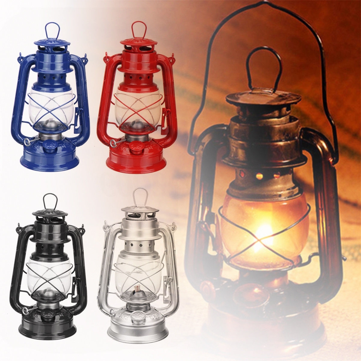 Outdoor Kerosene Lanterns For Trendy Military Oil Lamp Lantern Kerosene Paraffin Hurricane Lamp Light (View 7 of 20)
