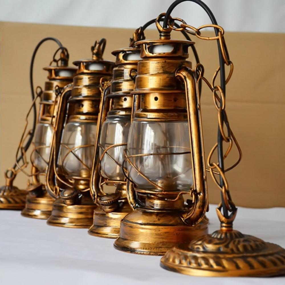 Outdoor Kerosene Lanterns Regarding 2019 250Mm*160Mm Vintage Nostalgic Lantern Kerosene Lamp Pendant Light (View 11 of 20)