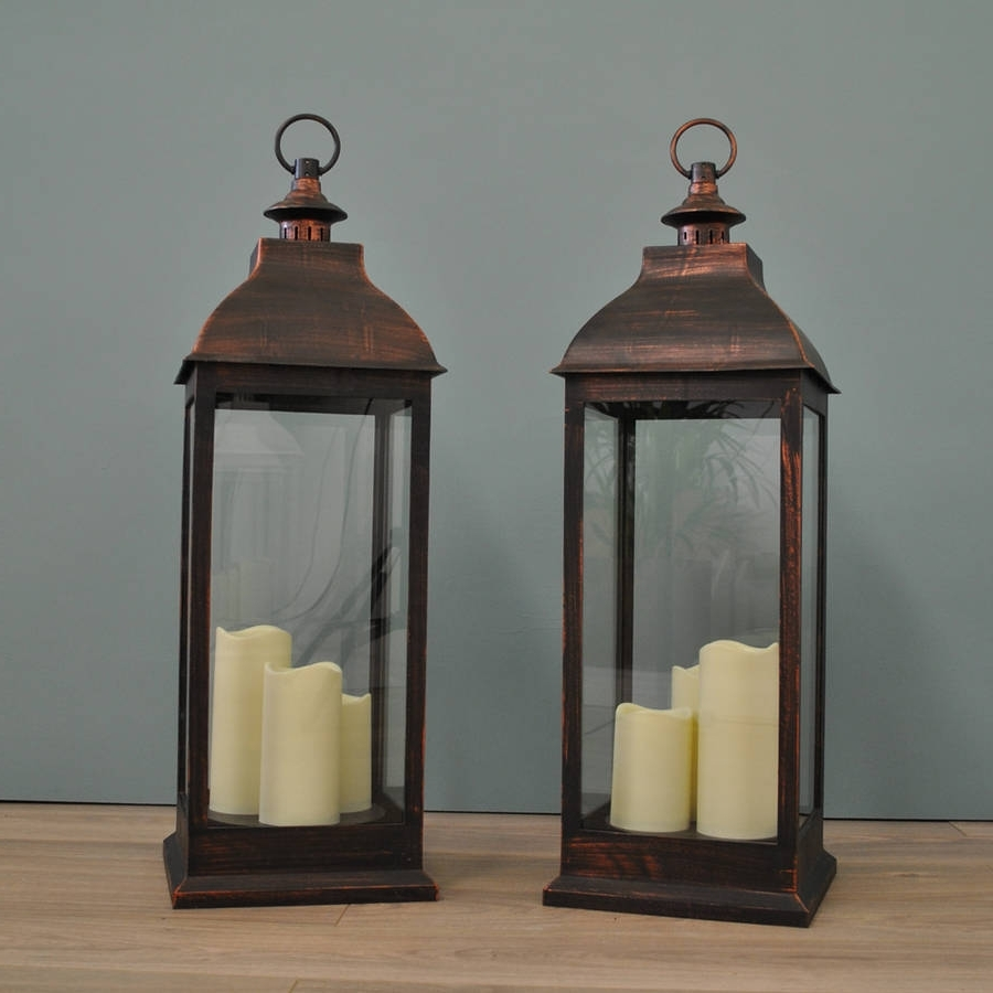 Outdoor Lamp Timer Best Of Two Firenze Battery Operated Candle With Well Known Outdoor Timer Lanterns (View 13 of 20)